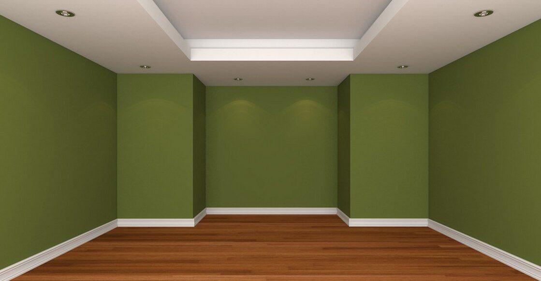 Стены, пол и потолок— сочетание цветов