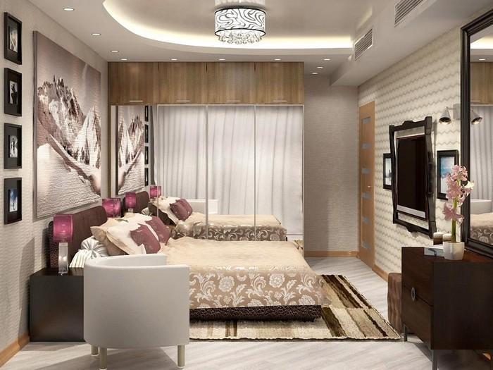 Мебель на тонких ножках для небольшой спальни