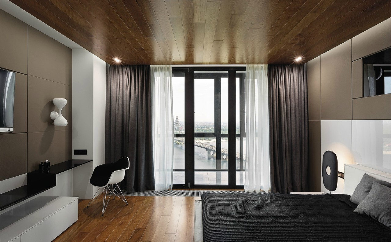 Спальня в стиле пуризм