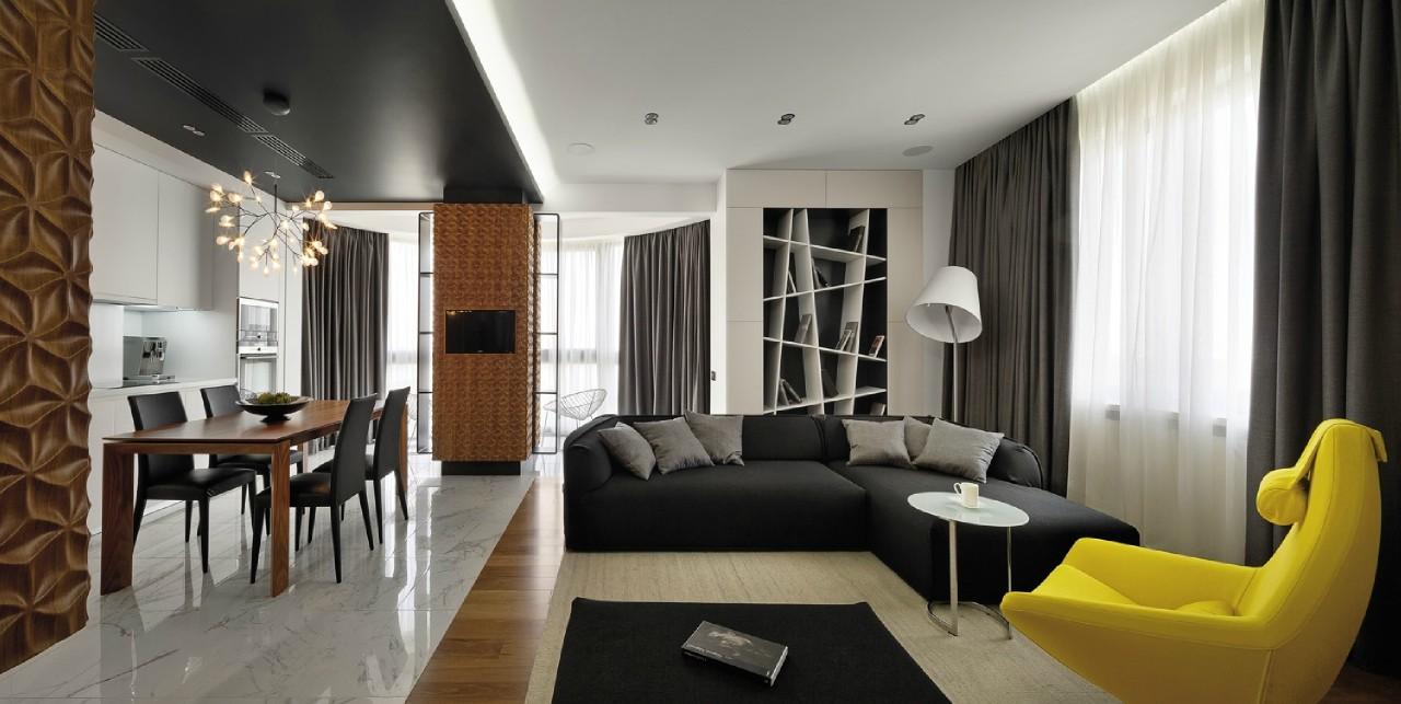 Квартира-студия в стиле пуризм