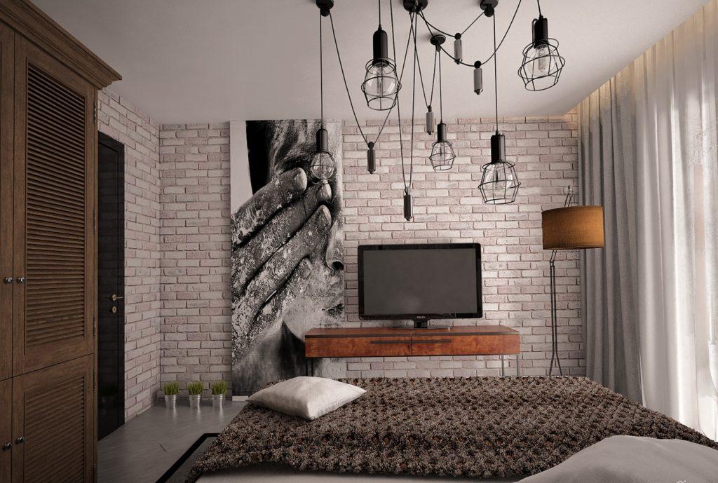 картина в квартире в стиле лофт