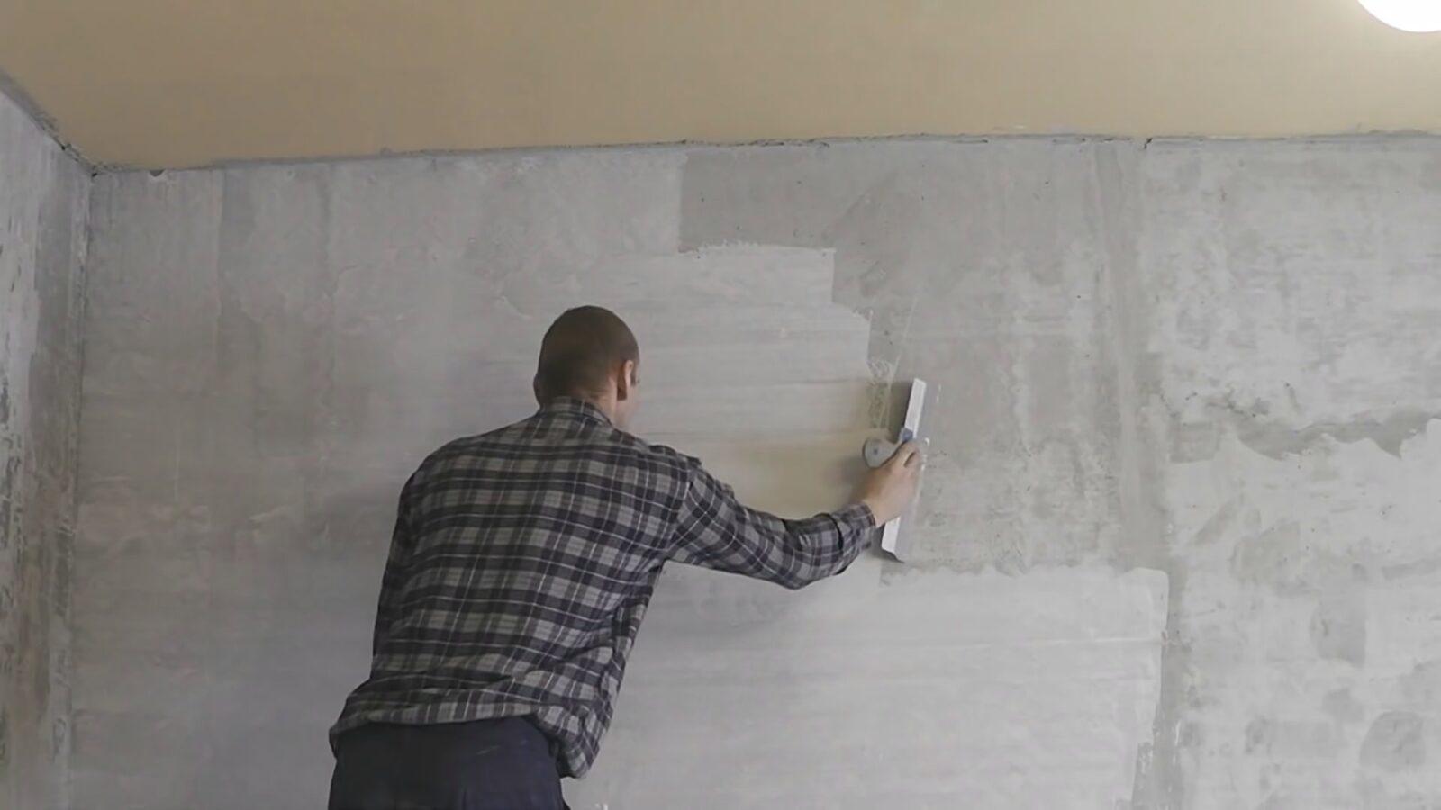 Очистка стен для нанесения обоев