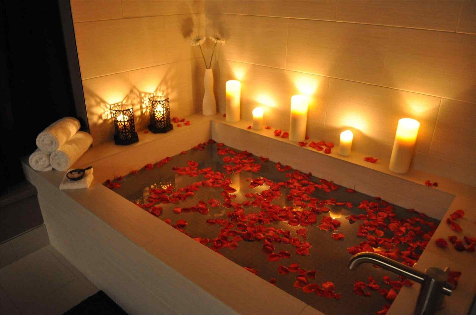 Ванна для романтического вечера