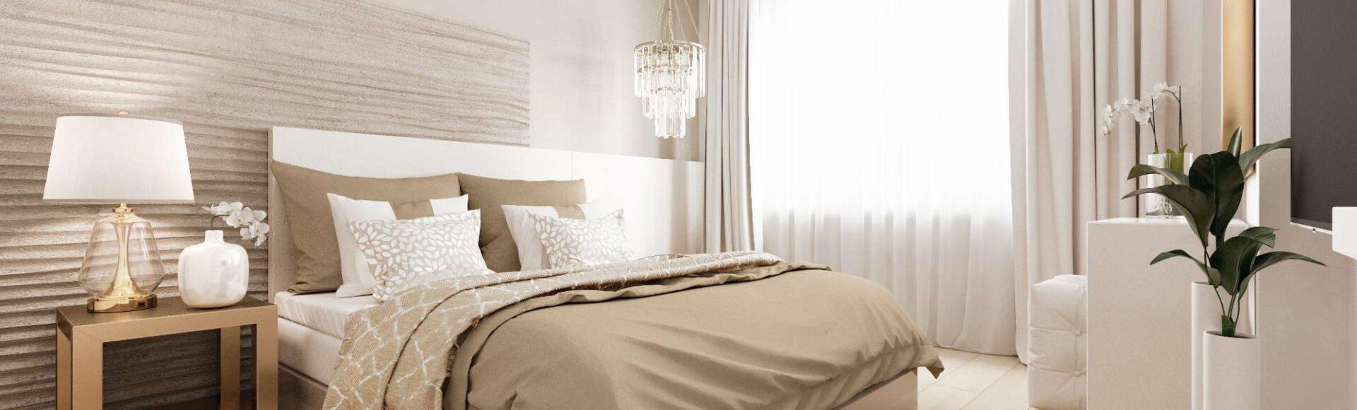 Как визуально увеличить маленькую спальню