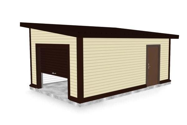 Построить гараж из сэндвич-панелей