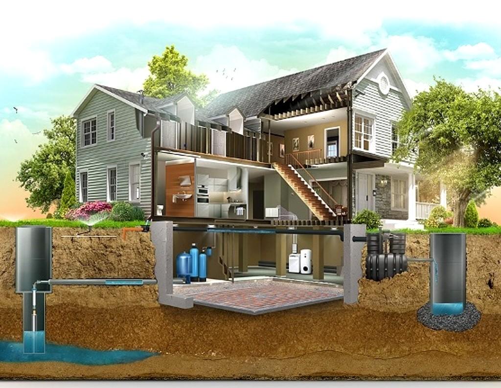 Автономное отопление и канализация