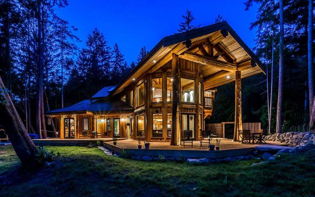post&beam каркарно-бревенчатый дом
